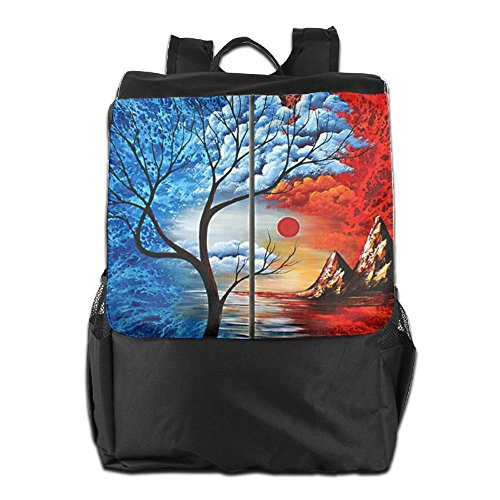 Strap Shoulder Travel Backpack For Adjustable Personalized And Tree Storage Outdoors HSVCUY Dayback Camping Painting School Oil Women Men qtPvnU