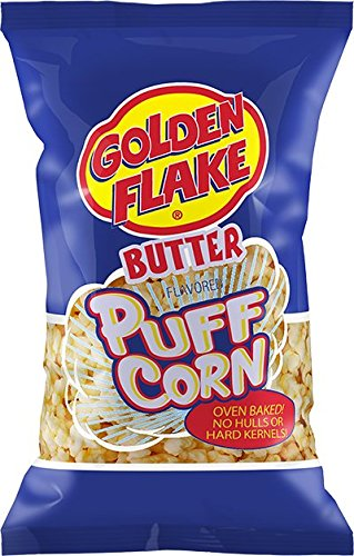 Golden Flake Puff Corn Butter, 7 oz Bags (Pack of 4) ()