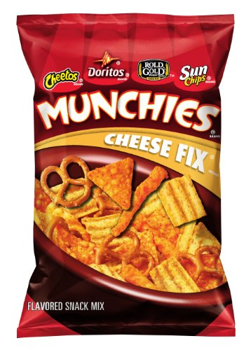 Munchies Snack Mix, Cheese Fix, 8 Ounce (Pack of 6) -