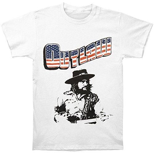 Waylon Jennings Men's Outlaw T-shirt White