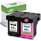 GREENBOX Re-Manufactured Ink Cartridge Replacement for HP 62XL 62 XL Used in HP Envy 7640 5660 5540 5640 5643 Officejet 5740 5743 5745 OfficeJet 200 250 Mobile Printer (1 Black, 1 Tri-Color)