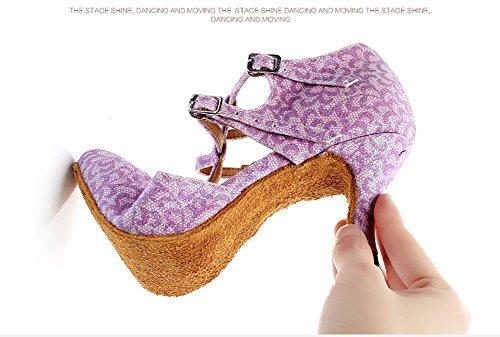 Salle Danse de des Chaussures Latine Rose Sandale Femmes Anti Womens WYMNAME Dérapant de Chaussures de Bal gwtxqfE7zp