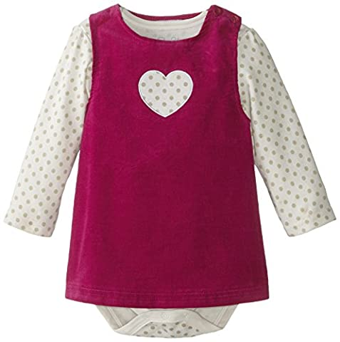 Rene Rofe Baby Baby-Girls Infant Heart Jumper Set with Bodysuit, Multi, 24 Months - Corduroy Jumper Dress Set