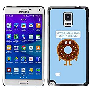 LECELL--Funda protectora / Cubierta / Piel For Samsung Galaxy Note 4 SM-N910 -- Quote Doughnut Food Cooking --