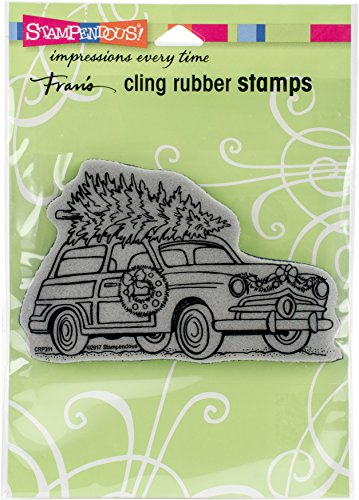 STAMPENDOUS Woody Christmas Cling - Invitation Woody