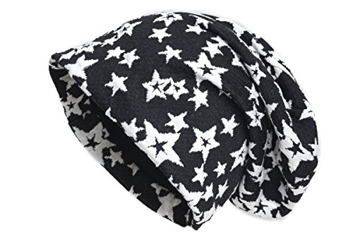 caído estrellas negro Shenky Superstar punto Gorro Multi de Con Eppq1vxw4
