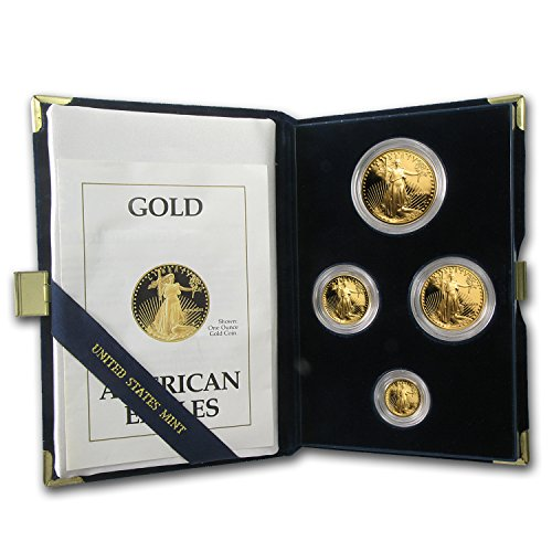 1989 P Coin Proof Gold American Eagle Set (w/Box & COA) About Uncirculated ()