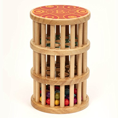 B. toys by Battat - B. A-Maze Rain Rush Dexterity Toy - Classic Baby Rainmaker Toy - Development Natural Wooden Toys for Toddlers