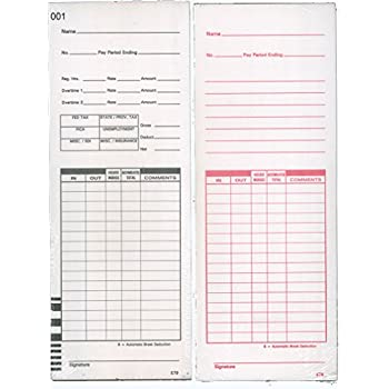 Amazon.com : 1000 Lathem E7 series compatible time cards (form E79 ...