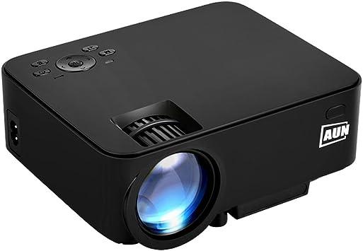 AUN 2 in 1 Android Proyector + Caja de tv 1500 Lúmenes LED ...