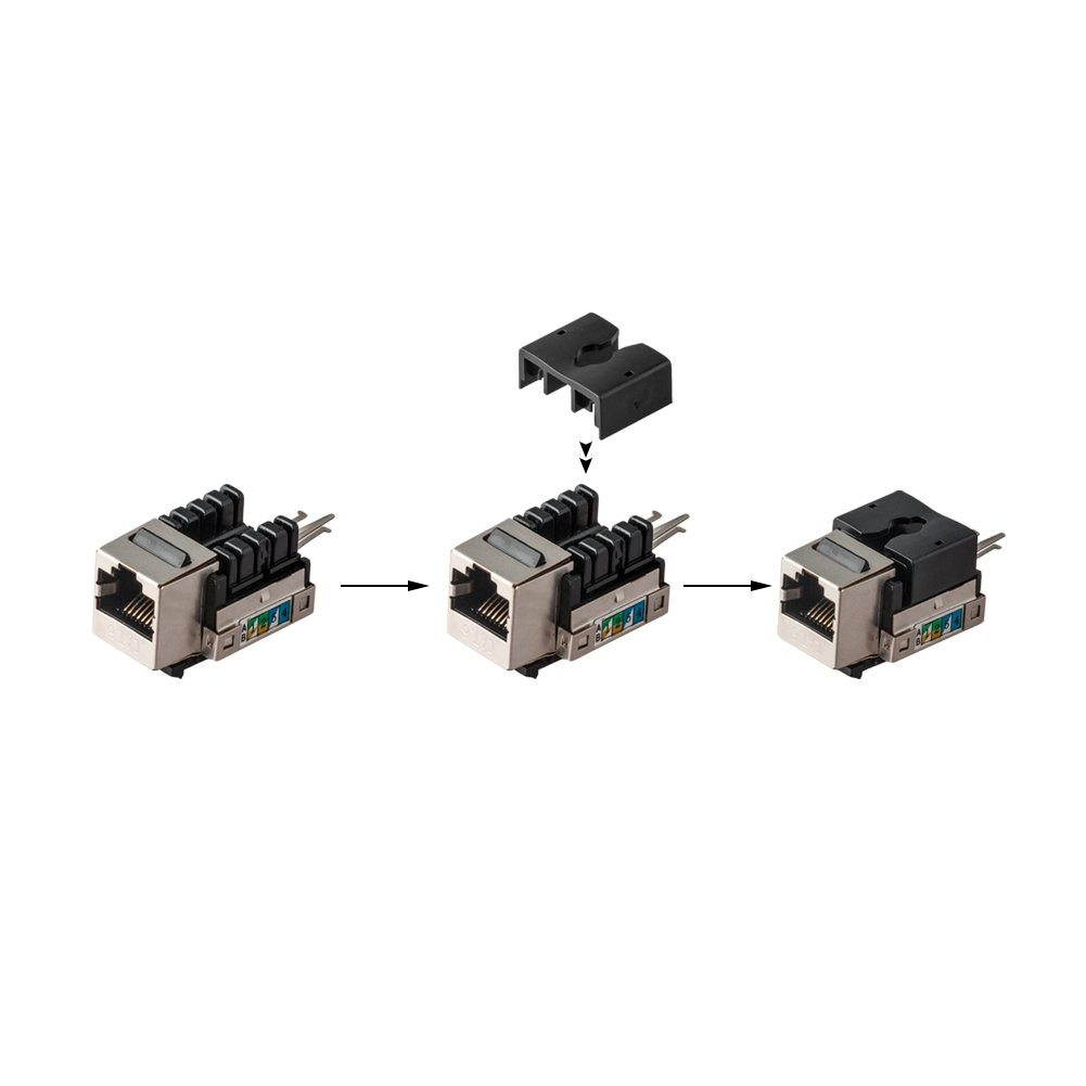 Cat6 Snap In Shielded Keystone Jack Mactisical Rj45 Cat Order Of The Bath Cat5 And Connectors 6 Ethernet Module Thunder Proof Line Couplers Home Improvement