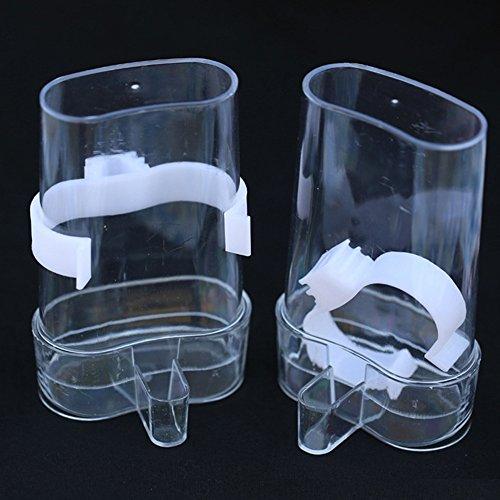 Bird Water Bottle (sxbest 2 Pack Bird Waterer Bird Feeders Bird Feed Water Dispenser Clear Pet Feeder Water Cup with Automatic Feeding (2Pack))
