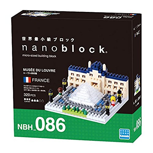 Kawada NBH086 Nanoblock The Louvre Museum Building Kit