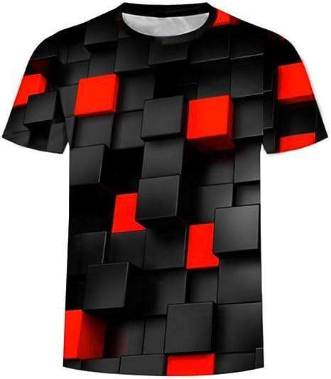 RCFRGV Camisa 3DT Camiseta básica de algodón para Hombre Talla ...