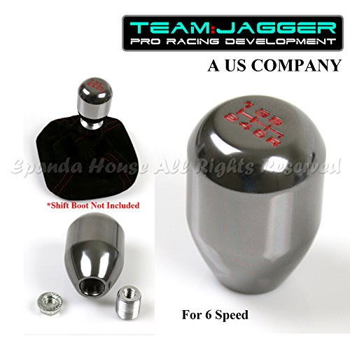 For Mazda! M10 Threaded! USA Red 6-Speed Brushed Aluminum Metal Manual Gear Stick Shift Knob Silver (Shift Knob 6 Speed Mazda compare prices)