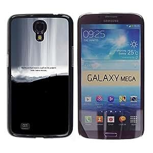 Qstar Arte & diseño plástico duro Fundas Cover Cubre Hard Case Cover para Samsung Galaxy Mega 6.3 / I9200 / SGH-i527 ( Pain Some Thing Special Achieve Quote Life)