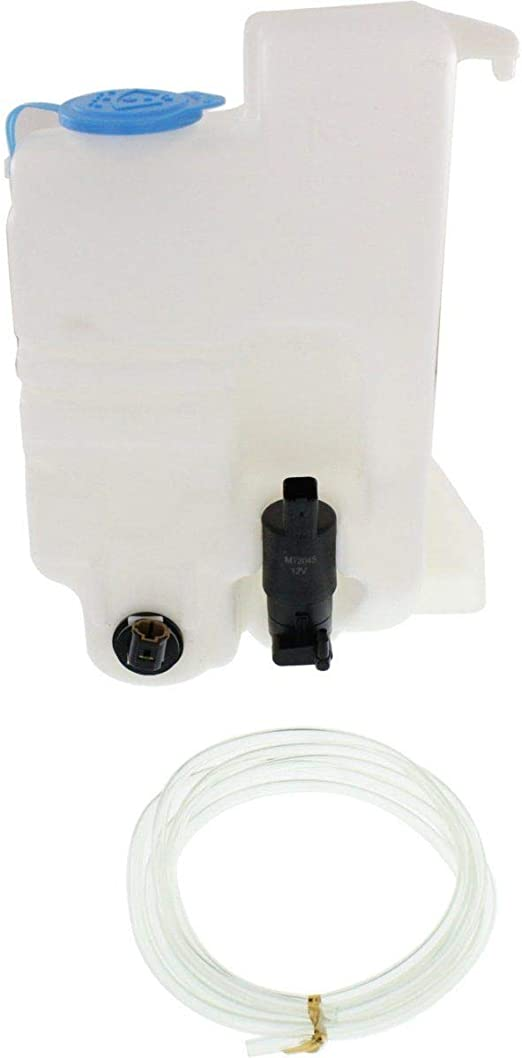 Compatible with 2004-2014 Nissan Titan Windshield Washer Fluid Reservoir with Pump