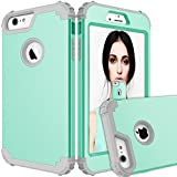 Maxcury iPhone 6 Plus Case iPhone 6s Plus Case, Hybrid Heavy Duty Shockproof Full-Body Protective Case with Three Layer Impact Protection for Apple iPhone 6s Plus 5.5 inch - Mint and Grey
