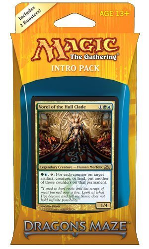 Magic the Gathering (MTG) Dragon's Maze Intro Pack: Simic Domination (Includes 2 Booster Packs) Theme Deck