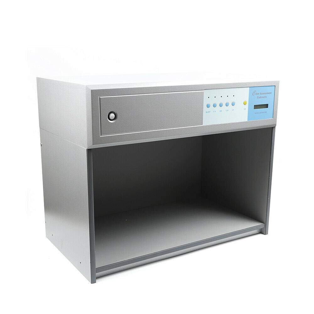 TFCFL Color Matching Cabinet 4 Light Sources Color Assessment Cabinet for Textile Printing Dyeing Material US Stock 110V by TFCFL