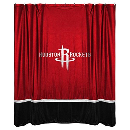 NBA Houston Rockets Shower Curtain, 72 x 72, Bright Red by Sports Coverage