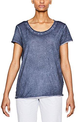 ESPRIT 047ee1k023, Camiseta para Mujer Azul (Ink)