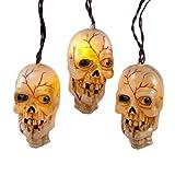 Kurt Adler HW1281 Musical Skull Light Set, 10 Light