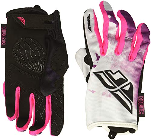 Fly Racing Unisex-Adult Kinetic Women's Gloves (Pink/Purple, X-Small)