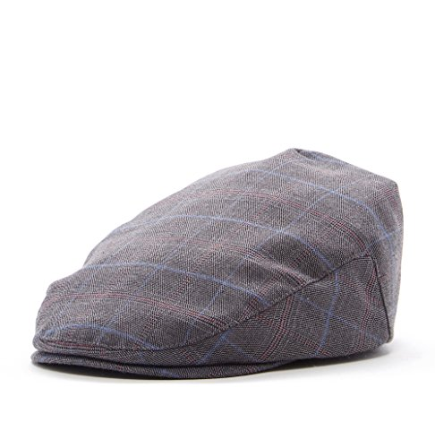 Born to Love - Boy's Page Boy Newsboy Baby Kids Driver Cap Hat (XXS 46CM Grey Plaid) ()