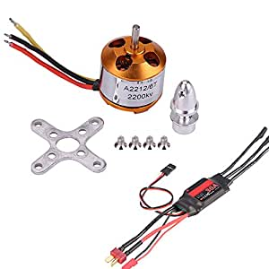 2200KV Motor Mini 30A Electronic Speed Controller RC Accessory with Cables for Multicopter Quadcopter FPV Drone