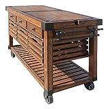 Acme Furniture 98184 Kaif Kitchen Cart, Distress Chestnut