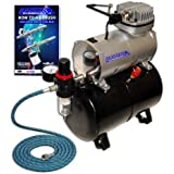 NEW Quiet MASTER AIRBRUSH TANK COMPRESSOR-(FREE) AIR HOSE and Now a (FREE) How to Airbrush Training Book to Get You Started, Published Exclusively By TCP Global.