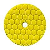 Chemical Guys BUFX111HEX5 Hex-Logic Quantum Heavy Cutting Pad (Yellow, 5.5 Inch)