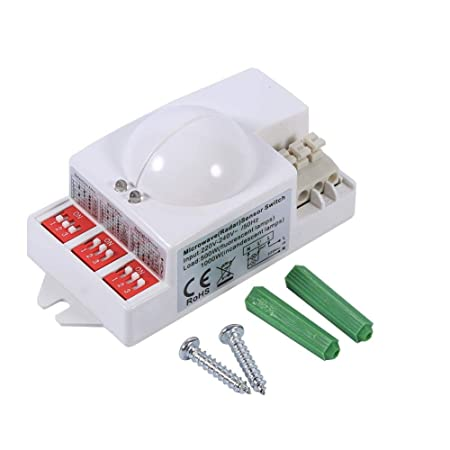 Neufday 360 ° 500W Microondas Sensor de Movimiento Inteligente ...