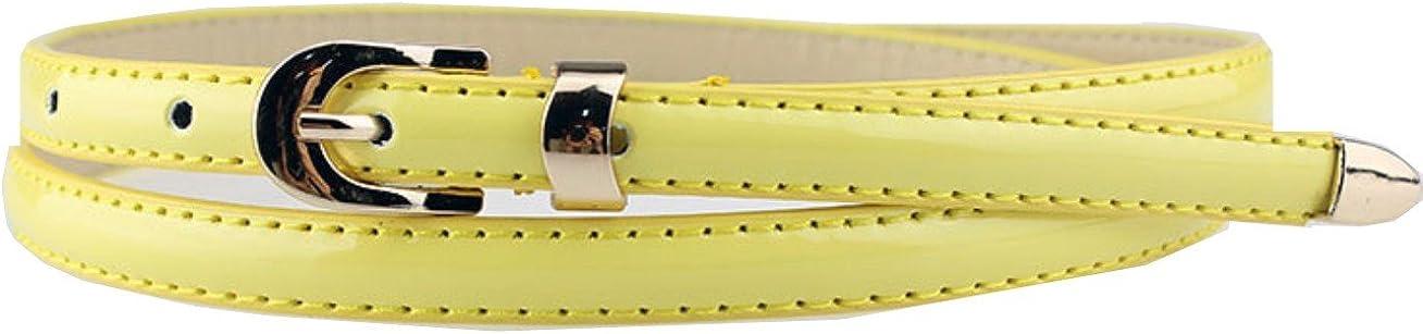 Sucre Belts Cinturón para mujer, de fina piel sintética