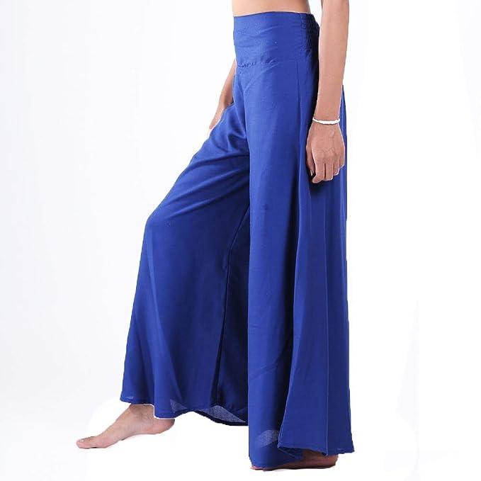Lofbaz Mujer Pierna Ancha Palazzo Pantalones Yoga Hippie ...