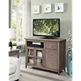 Convenience Concepts 8063080DFTW Highlander TV Stand, Driftwood