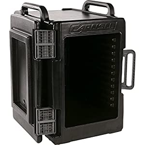 Carlisle IT40003 Cateraide IT End Loading Insulated Food Pan Carrier, 6 Pan Capacity, Onyx