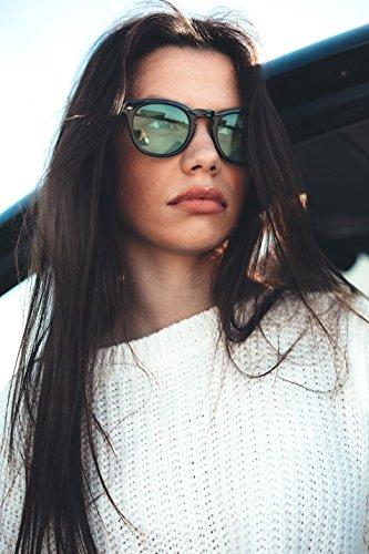 Rosa LOCKE de mujer degradadas Negro TWIG Gafas hombre sol Cgwpx8HqR