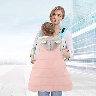 Acai Baby Sling Copertura Protettiva Velluto Color Matching Cinturino Cappuccio Caldo Baby out Mantello Antivento Caldo Tasche Autunno E Inverno,Blue