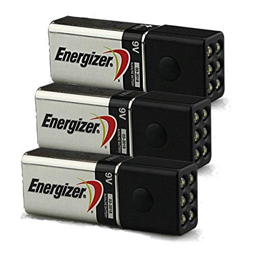 3-Pack of Blocklite 6 LED Mini Flashlights w/Energizer 9 Volt Batteries