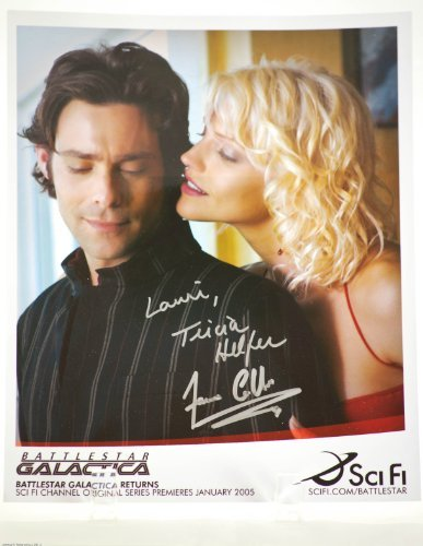 2005 - MGM / TV - Battlestar Galactica - Sci-Fi Channel - Series Premiere - Autographed 8x10 Photo - Signed by Tricia Helfer & James Callis - Signed in Silver - Rare - Collectible
