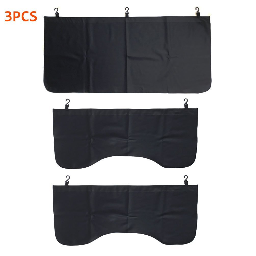 3 PCS Black Automotive Mechanic Magnetic Leather Front Fender Cover Protector Gripper Mechanic Work Mat Pad