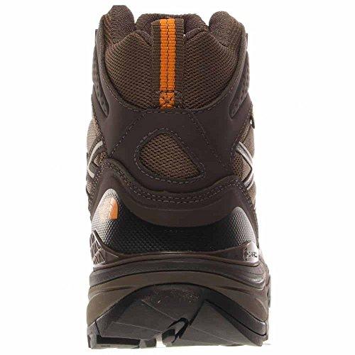 Der North Face Hedgehog Fastpack Mid GTX Wide Boot Herren Shroom Brown / Brushfire Orange