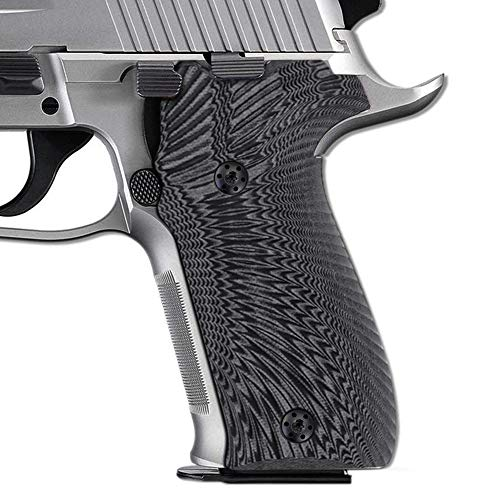 Cool Hand Grips Compatible with Sig Sauer P226, Sunburst Texture, Gray/Black G10, 226-J6-5 (Sig Sauer P226 Black Stainless For Sale)