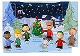 Peanuts Charlie Brown Starry Night Christmas Holiday Figure Set