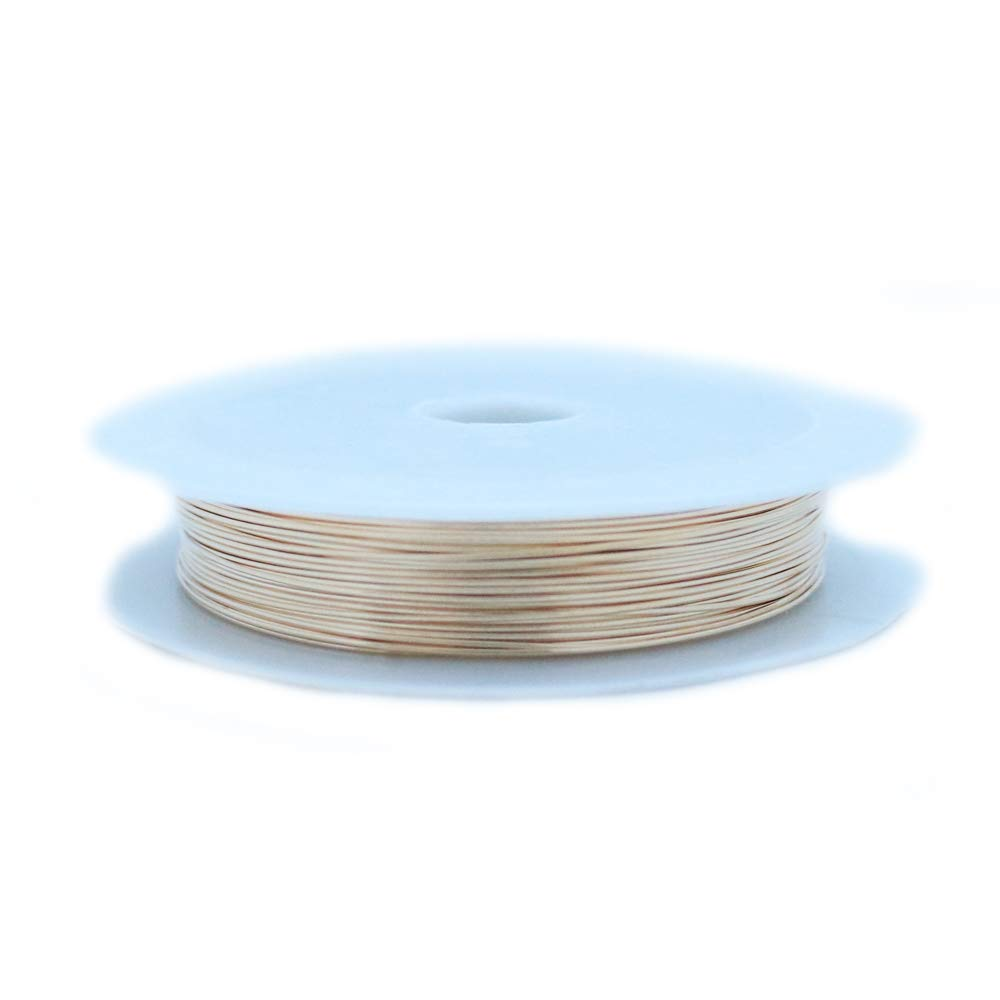 1 Ounce (120 Ft) 14/20 Yellow Gold Filled Wire 28 Gauge, Round, Dead Soft - from Craft Wire by Craft Wire