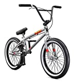 "Mongoose Legion L100 20"" Freestyle BMX Bike, Silver"