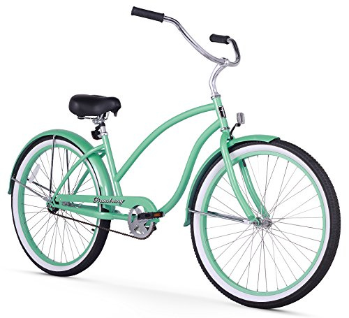(Firmstrong Chief Lady Single Speed Beach Cruiser Bicycle, 26-Inch, Mint Green)