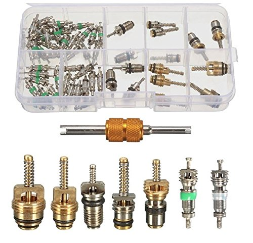 MD Group Car A/C Valve Cores Automobile Assortment Double Head Dismantling Installer Tool 55Pcs by MD Group (Image #9)